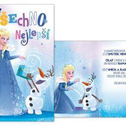 Přání dětské Frozen / Elsa / 12 x 11,5 cm