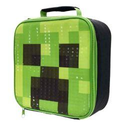 Termo taštička na svačinu / lunch box Minecraft Creeper 23 x 8 x 23 cm