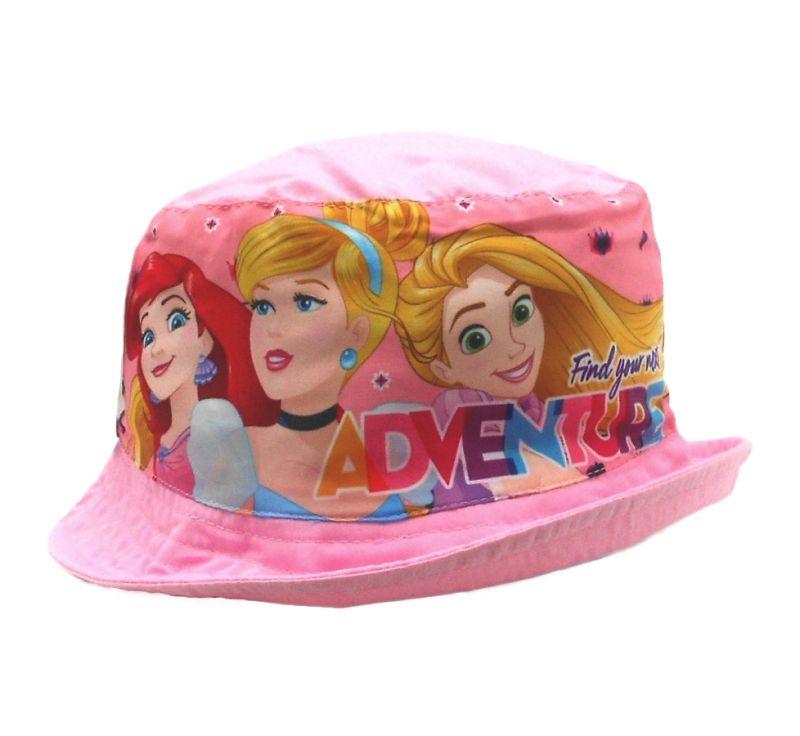 Letní dívčí klobouček Princezny / Princess Pink velikost 50 cm