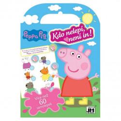 Sešit s příběhy Peppa Pig / Prasátko Peppa / doplňování samolepek 24 x 16 cm / 10 listů / vecizfilmu