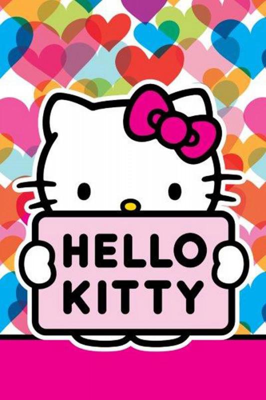 Malý dívčí ručník Hello Kitty / Mimi Love / 60 x 40 cm