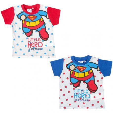 Tričko s krátkým rukávem pro nejmenší děti DC Comics   Superman   Little  Hero   6 - 24 měsíců 67c830420d