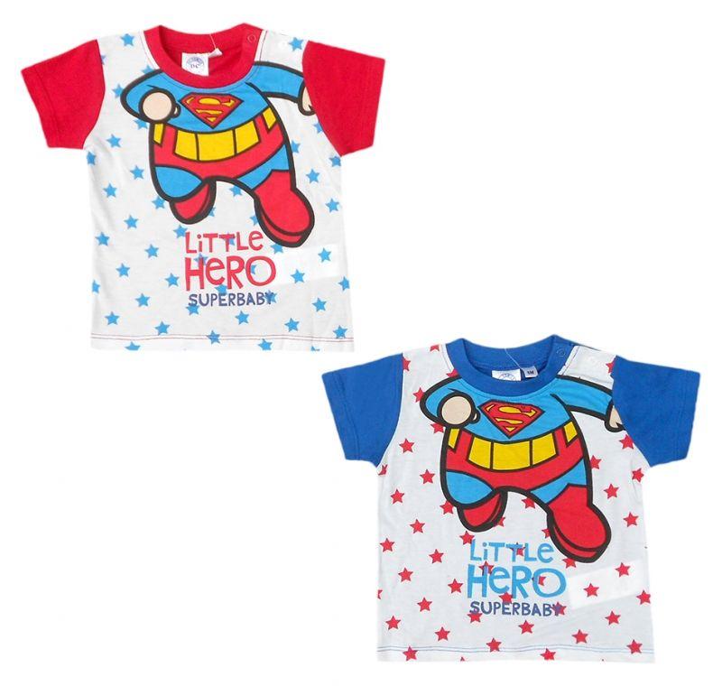 Tričko s krátkým rukávem pro nejmenší děti DC Comics / Superman / Little Hero / 6 - 24 měsíců