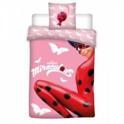 Dívčí povlečení Zázračná Beruška / Miraculous Ladybug Pink / 140 x 200 cm / 70 x 90 cm / vecizfilmu