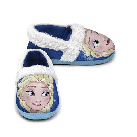 Dívčí domácí měkká obuv / papuče Elsa / Frozen / Ledové Království / velikost 24 - 30