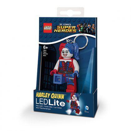 3D přívěšek na klíče s LED baterkou / Batman Movie / Harley Quinn
