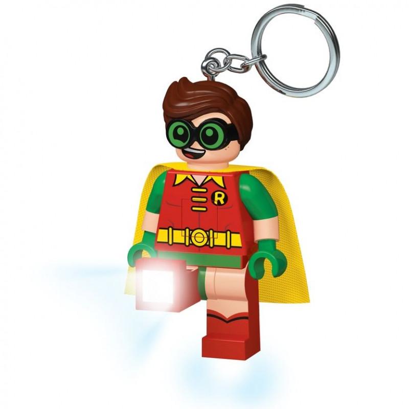 3D přívěšek na klíče s LED baterkou / Batman Movie / Robin