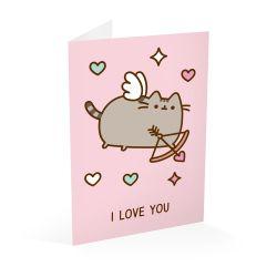 Narozeninové přání s kočičkou Pusheen / I Love You / vecizfilmu