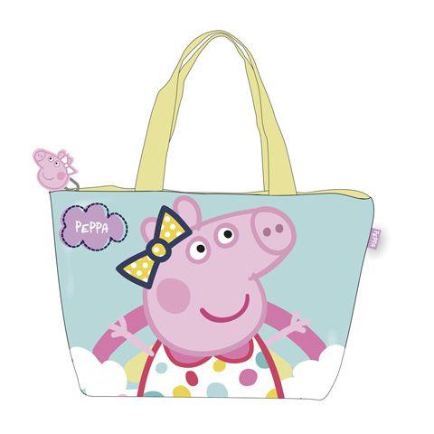 Dětská kabela / taška přes rameno na zip Prasátko Peppa / Peppa Pig 48 x 32 cm