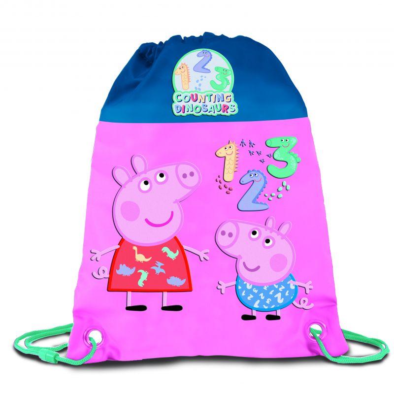 Dívčí gym bag / pytlík na přezůvky Prasátko Peppa / Peppa Pig Čísla