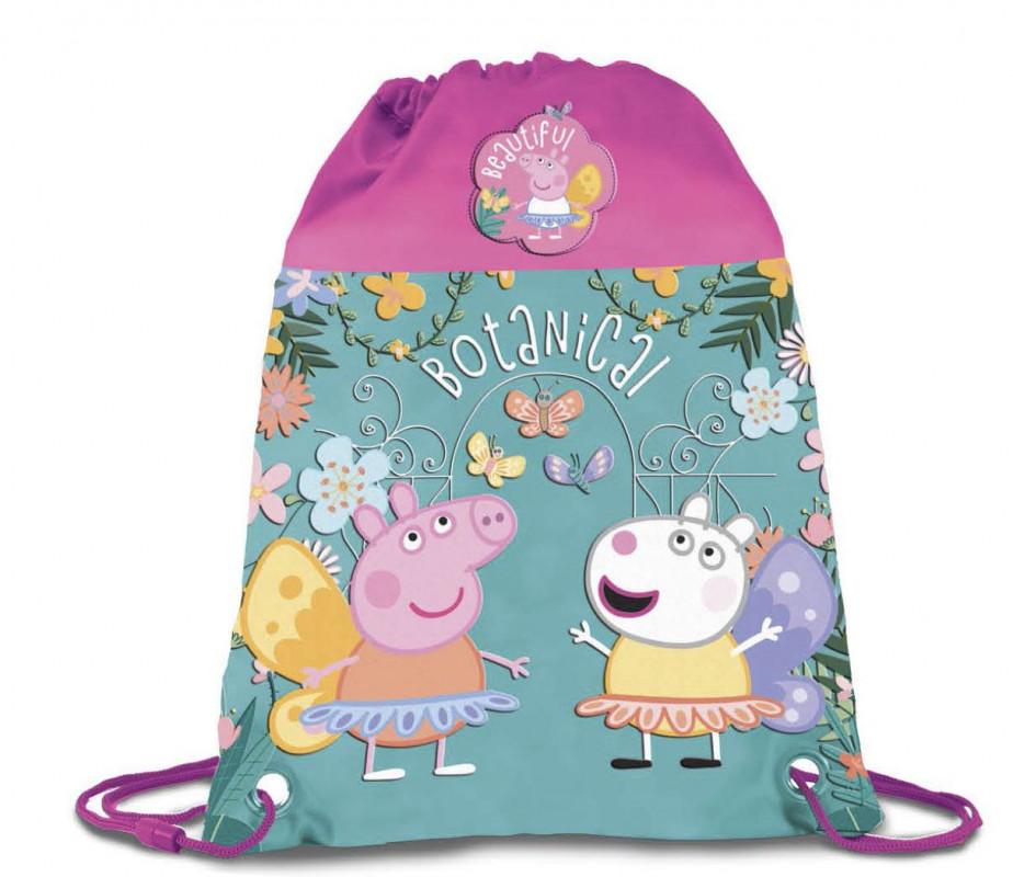 Dívčí gym bag / pytlík na přezůvky Prasátko Peppa / Peppa Pig Botanical