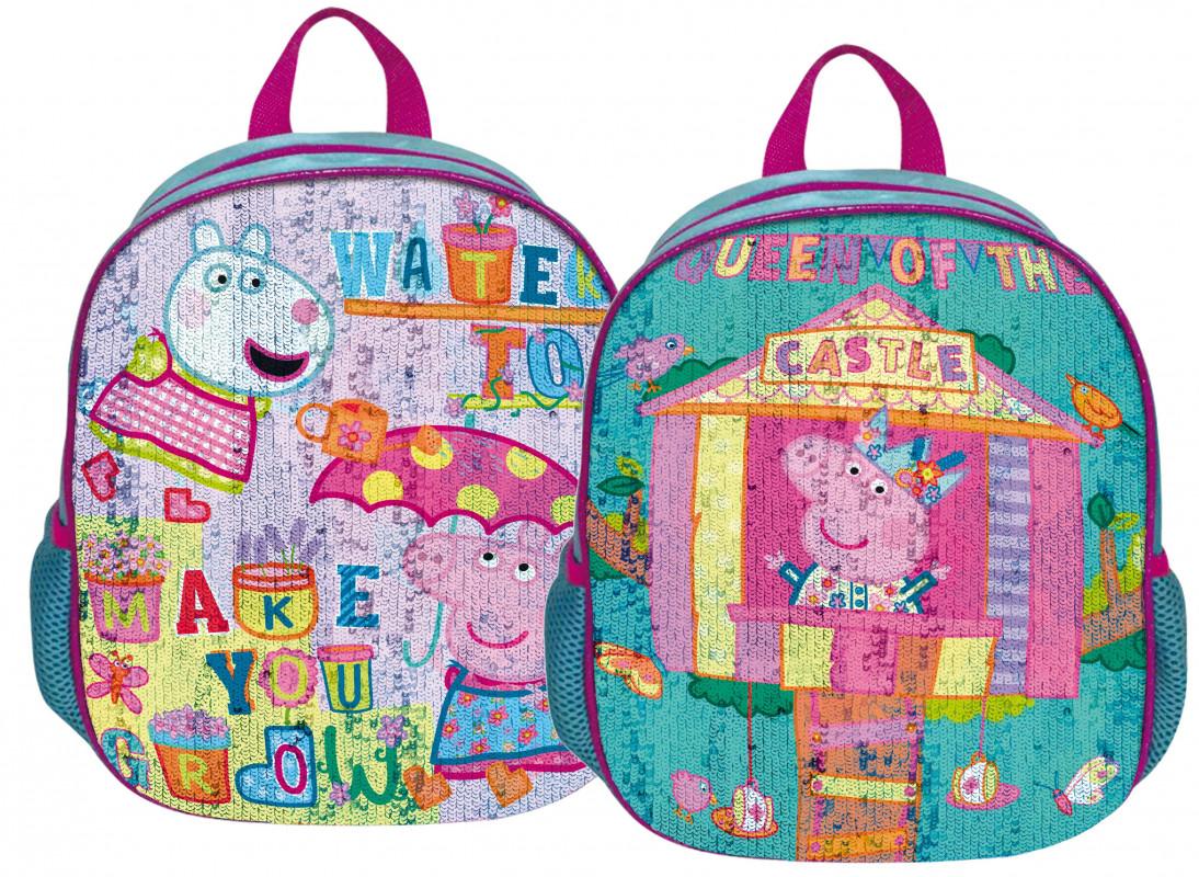 Dětský batoh s měnící se přední stranou Prasátko Peppa / Peppa Pig / Hrad
