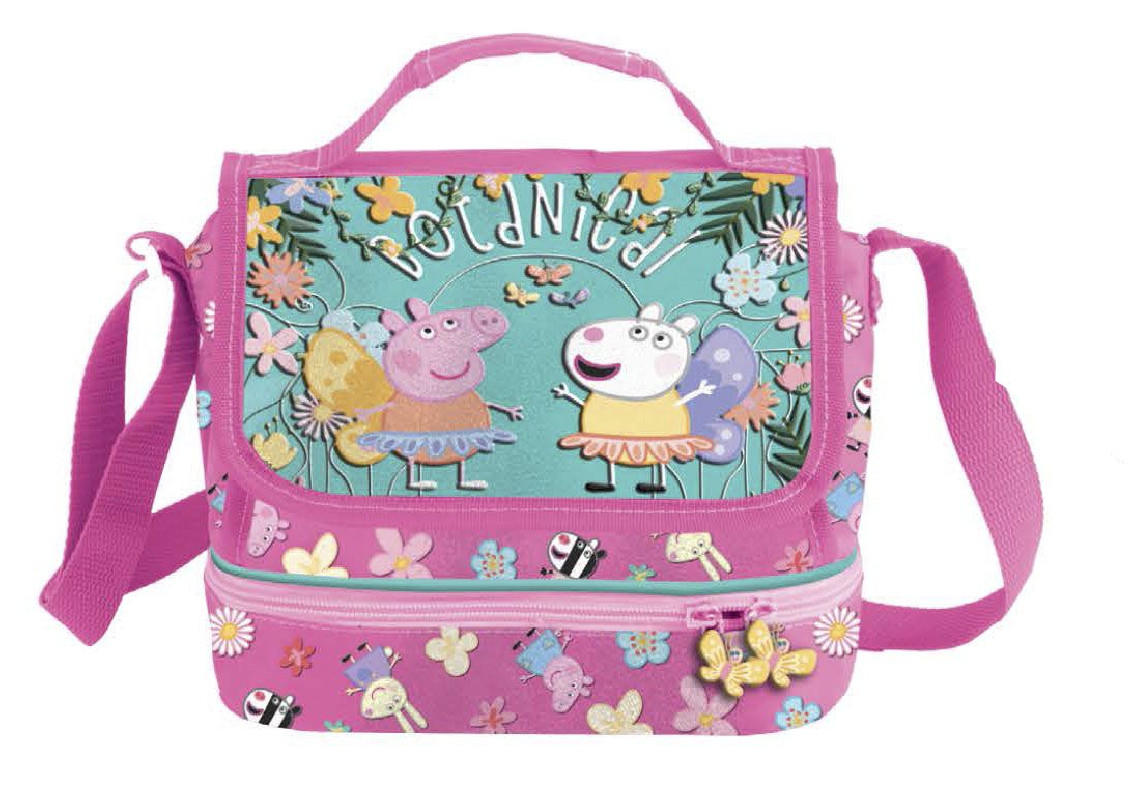 Dívčí příruční taška přes rameno s klopou Prasátko Peppa / Peppa Pig Botanical