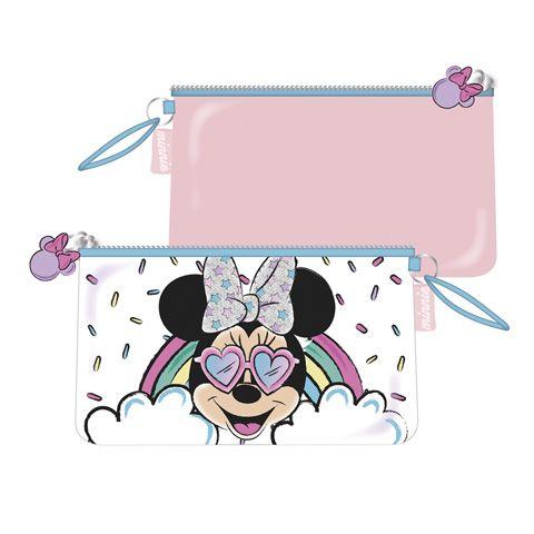 Dívčí kosmetická taštička / kapsička na zip Myška Minnie / Minnie Mouse / Duha 24 x 14 cm