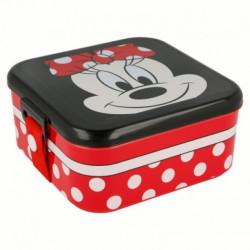 Plastová krabička na svačinu / lunch box Myška Minnie / Minnie Mouse / Puntíky