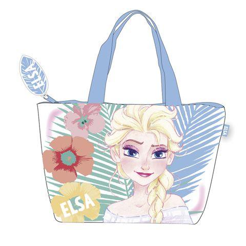 Dívčí kabela / taška přes rameno na zip Elsa / Frozen / Ledové Království 48 x 32 cm