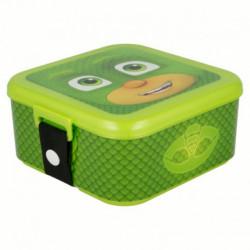 Plastová krabička na svačinu / lunch box PJ Masks / Pyžamasky / Greg / vecizfilmu