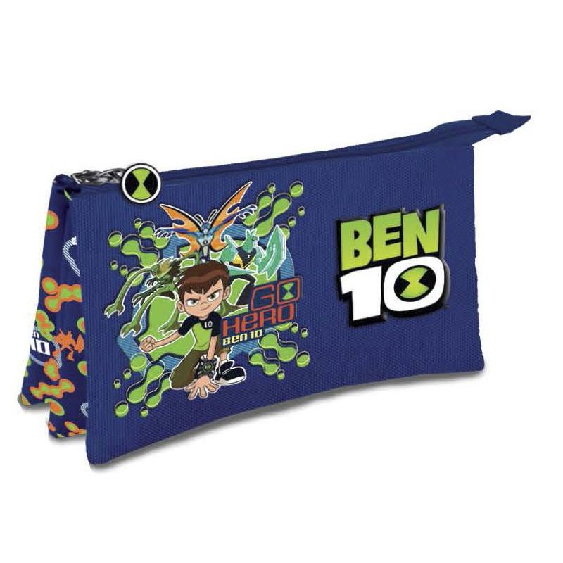 Chlapecký penál / taštička se třemi přihrádkami s motivem pohádky Ben 10