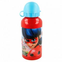 Hliníková láhev na vodu s krytkou Zázračná Beruška / Miraculous Ladybug 400 ml