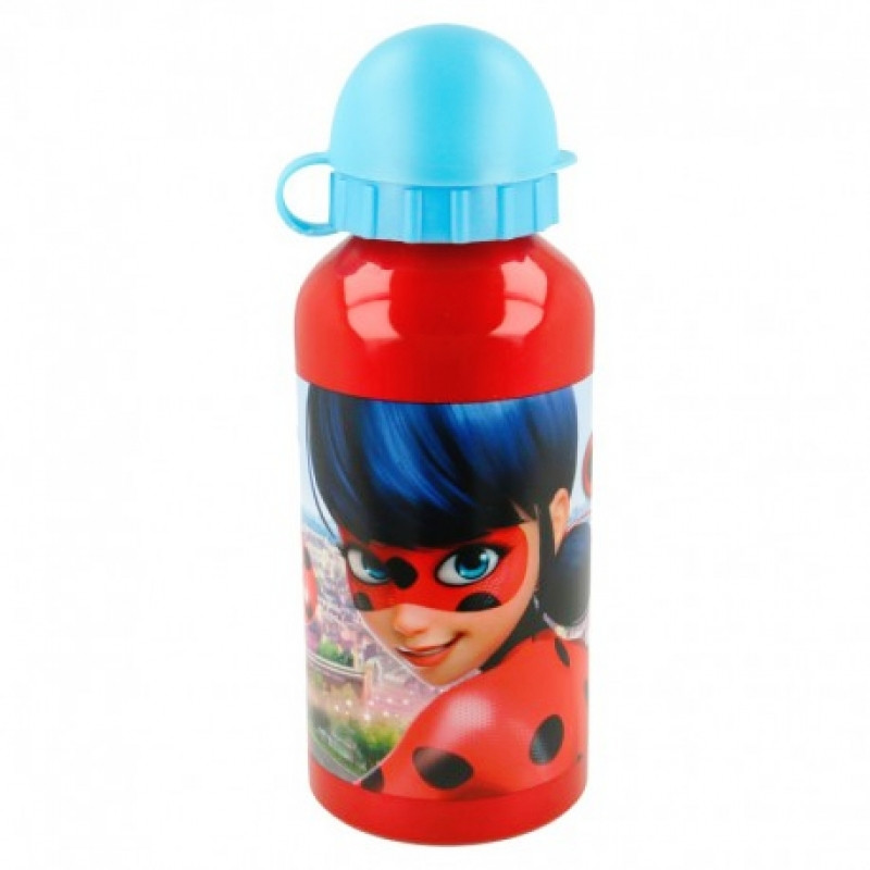 Hliníková láhev na vodu s krytkou Zázračná Beruška / Miraculous Ladybug 400 ml / vecizfilmu