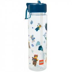 Plastová láhev na vodu s brčkem Lego Movie 2 / blue