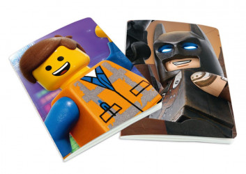 Sada 2 ks linkovaných A5 sešitů Lego / Batman