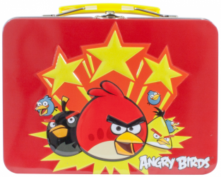 Kovový kufřík na drobnosti Angry Birds 19 x 13 x 6 cm / vecizfilmu