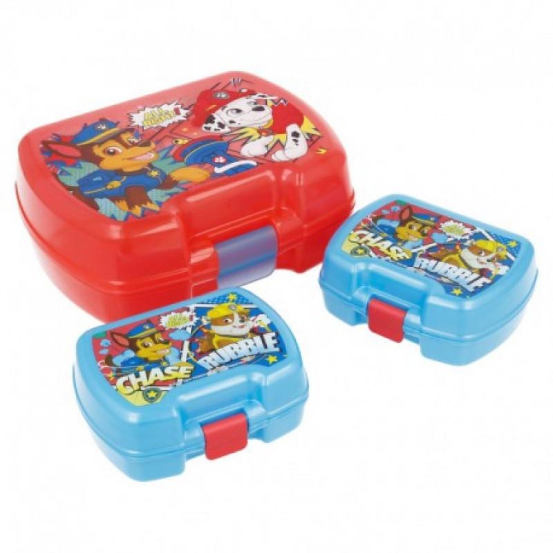 Sada 3 ks lunch boxů Paw Patrol / Chase a Marshall