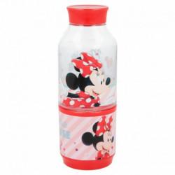 Láhev na vodu s kelímkem Myška Minnie / Minnie Mouse / vecizfilmu