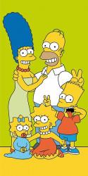 Osuška Simpsonovi / Family 70 x 140 cm / vecizfilmu