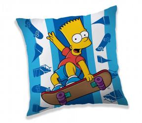 Polštář Bart Simpson Skateboard 40 x 40 cm