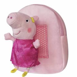 Plyšový batoh s hračkou Peppa Pig / Prasátko Peppa pink / vecizfilmu