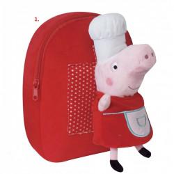 Plyšový batoh s hračkou Peppa Pig / Prasátko Peppa red / vecizfilmu