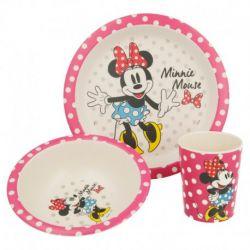 Bambusová jídelní sada Minnie Mouse / kelímek, miska, talíř / vecizfilmu