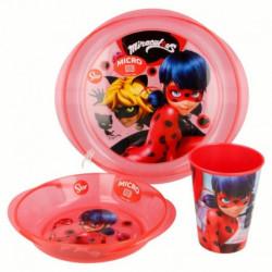 Sada nádobí Miraculous Ladybug / talíř miska kelímek / vecizfilmu