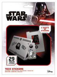 Sada 29 ks ozdobných samolepek Star Wars / vecizfilmu