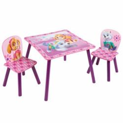 Stůl a 2 židle Tlapková Patrola / vecizfilmu