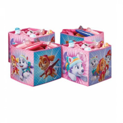 Sada 4 ks úložných boxů Tlapková Patrola Pink