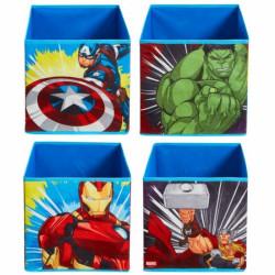 Sada 4 ks úložných boxů Avengers