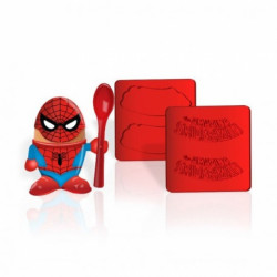Kalíšek na vajíčko Spiderman / lžička a formička na toast / vecizfilmu
