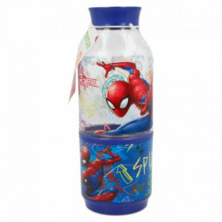 Láhev na vodu s kelímkem Spiderman / vecizfilmu