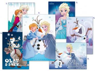 Pohlednice Frozen / Ledové Království / vecizfilmu