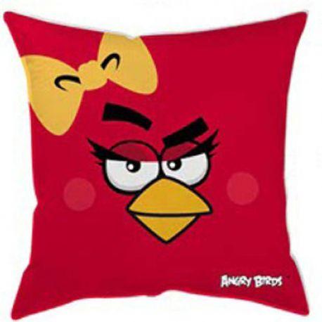 Polštářek Angry Birds červený Girl 40x40