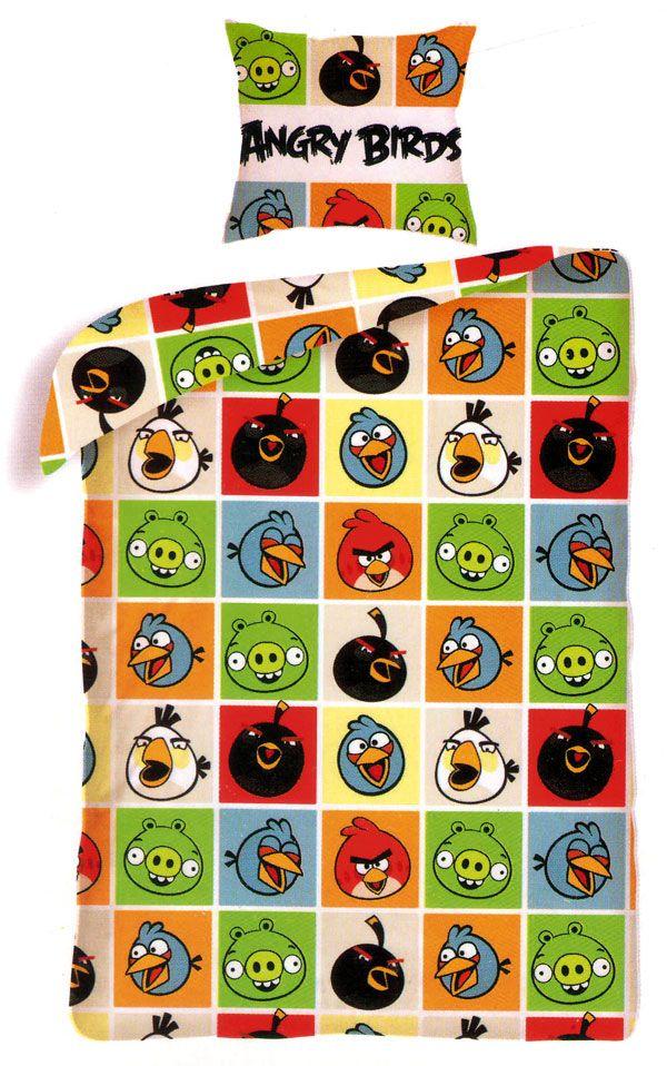 Povlečení Angry Birds čtverce 140/200