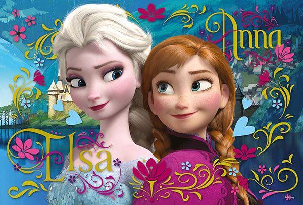 Puzzle Ledové Království Anna a Elsa 100 dílků
