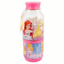 Láhev na vodu s kelímkem Princezny / Princess