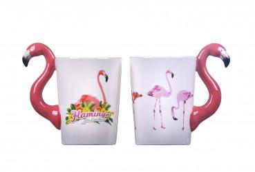 3D hrnek Plameňák / Flamingo / vecizfilmu
