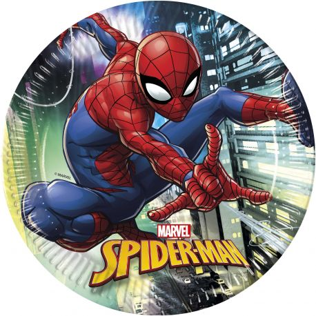 Papírové talířky Spiderman / vecizfilmu