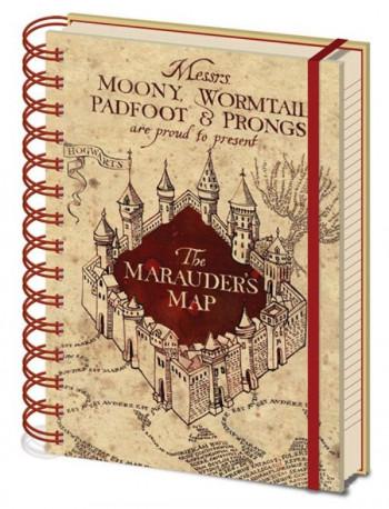 BLOK / ZÁPISNÍK HARRY POTTER THE MARAUDERS MAP A5