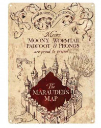 CEDULE NA ZEĎ HARRY POTTER MARAUDERS MAP A5